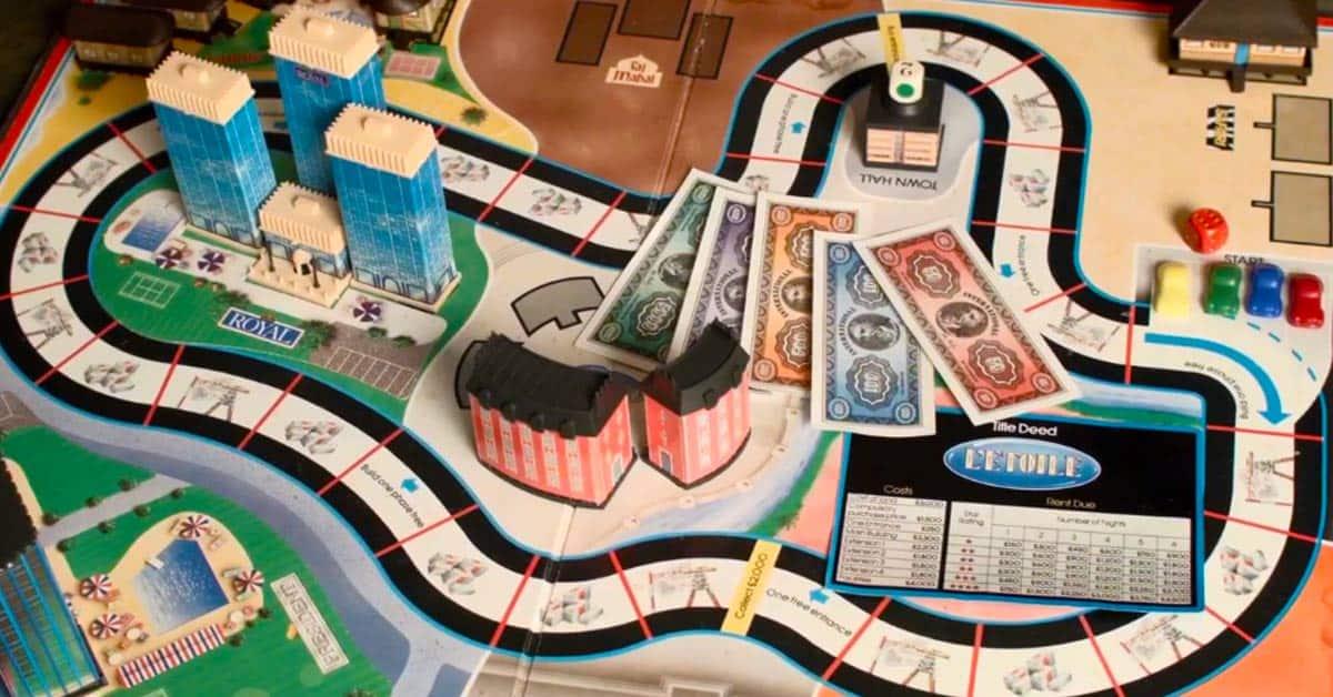 Hotel bordspel vroeger spelen gezelschapsspel