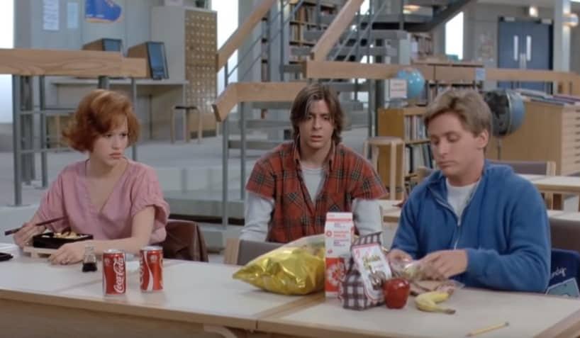 The breakfast club school film cast