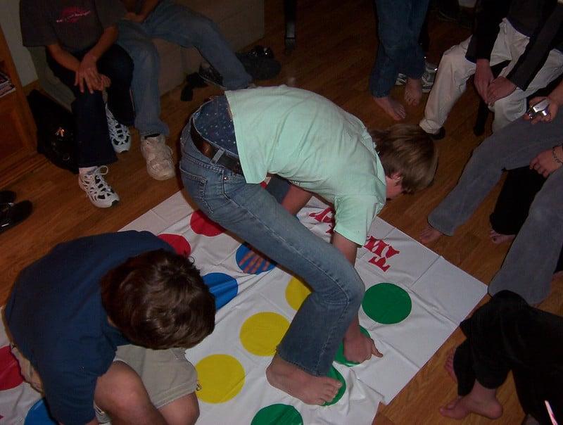 Twister spel vroeger