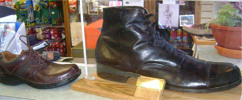 Robert Wadlow schoenen grootste mens