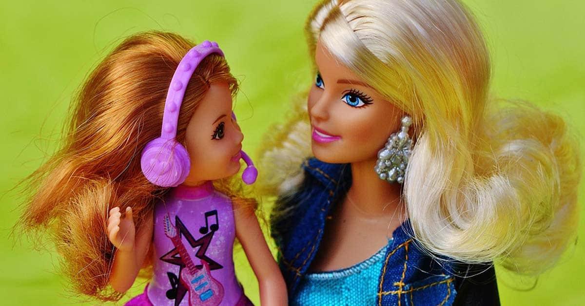 Barbiepoppen vroeger