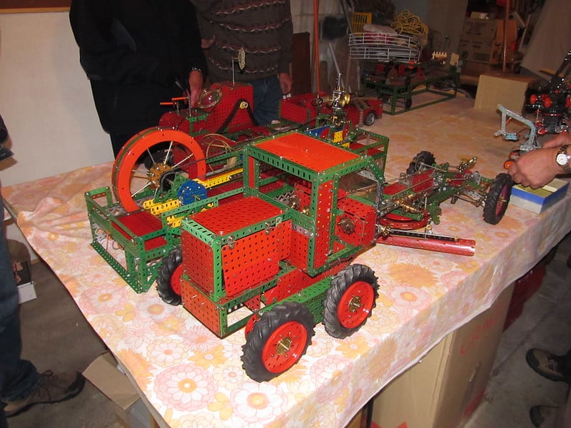 Meccano speelgoed bouwen vroeger