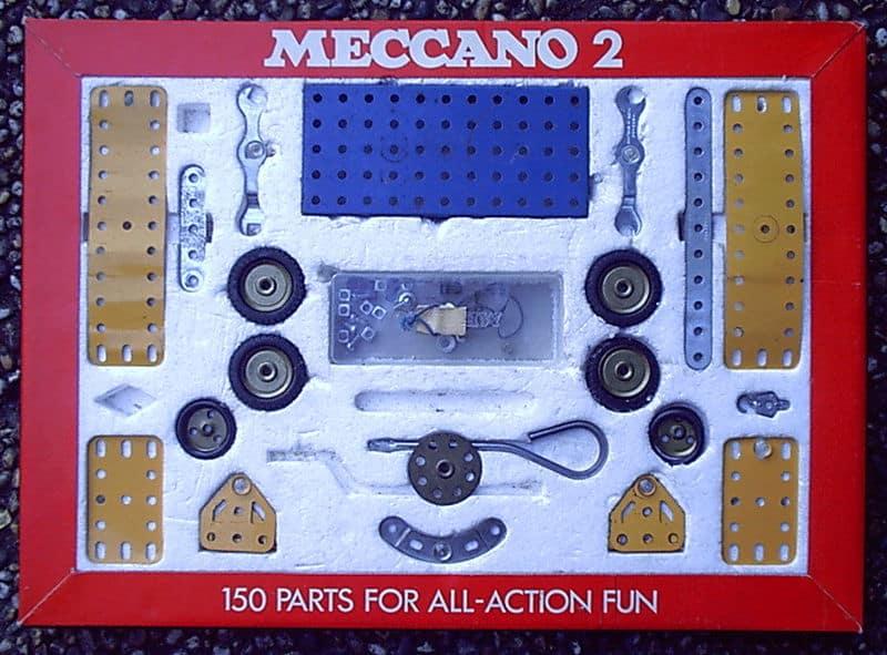 Meccano speelgoed doos vroeger