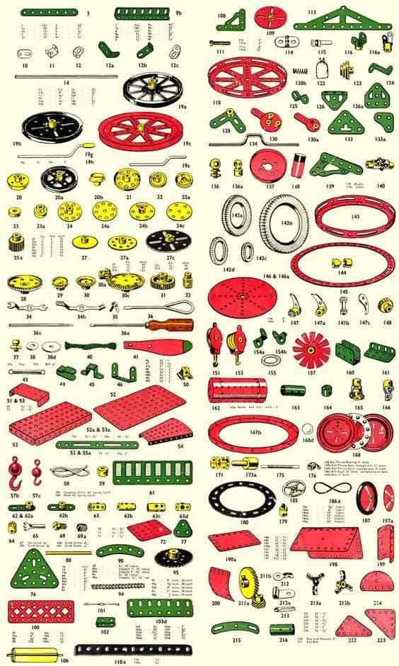 Meccano speelgoed onderdelen