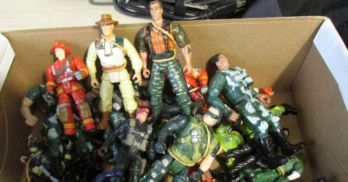 Action man speelgoed doos