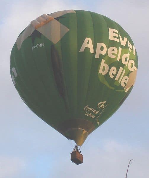 Even Apeldoorn bellen reclames ballon