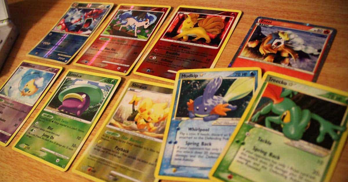 Pokemon kaarten spel vroeger