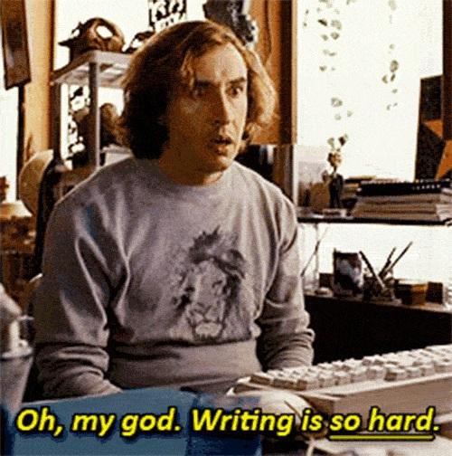 Schrijven is zo moeilijk