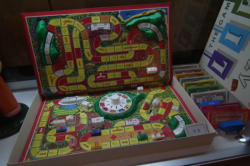 Levensweg bordspel gezelfschapsspel vroeger