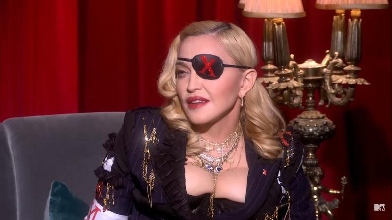 Madonna oogkapje stijlen vroeger