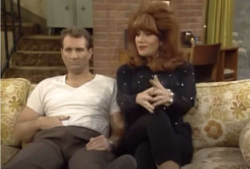 Married With Children Al on couch