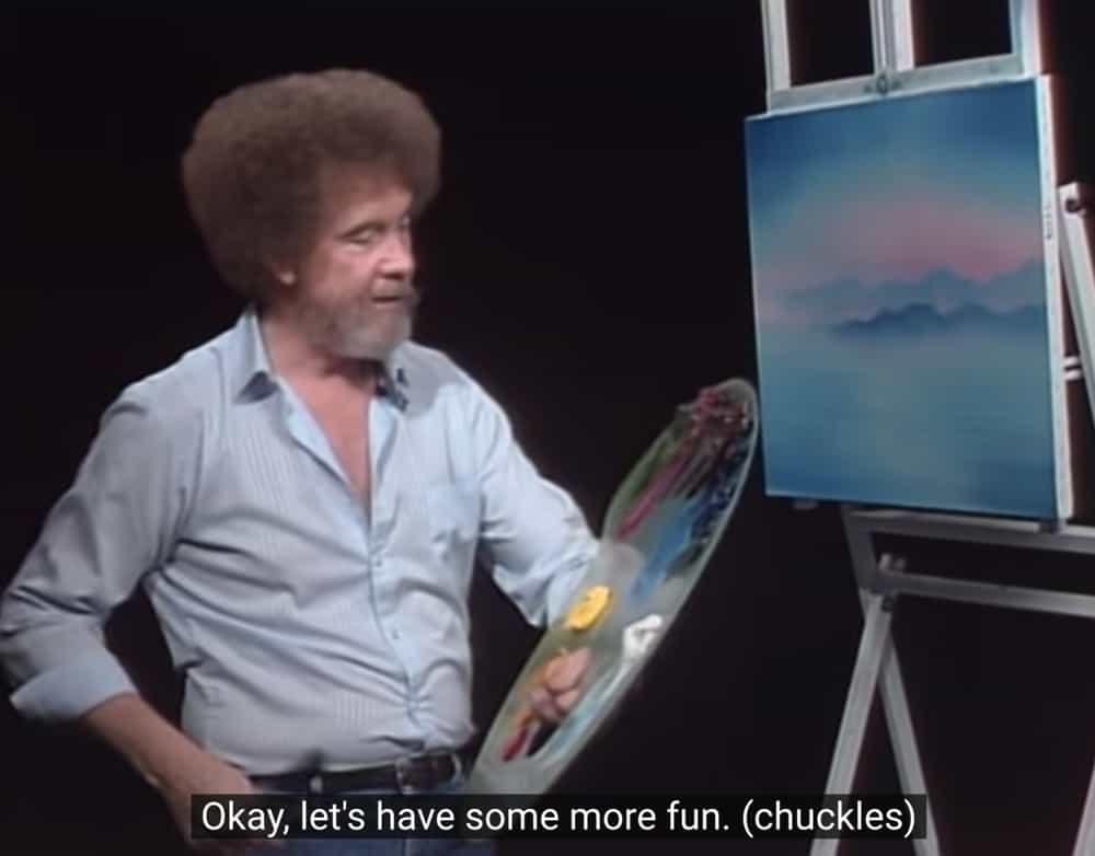Bob Ross schilderpalet