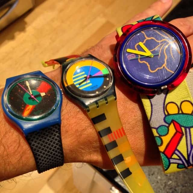 Horloge jaren 80 Swatch watch 80s arm accessoires