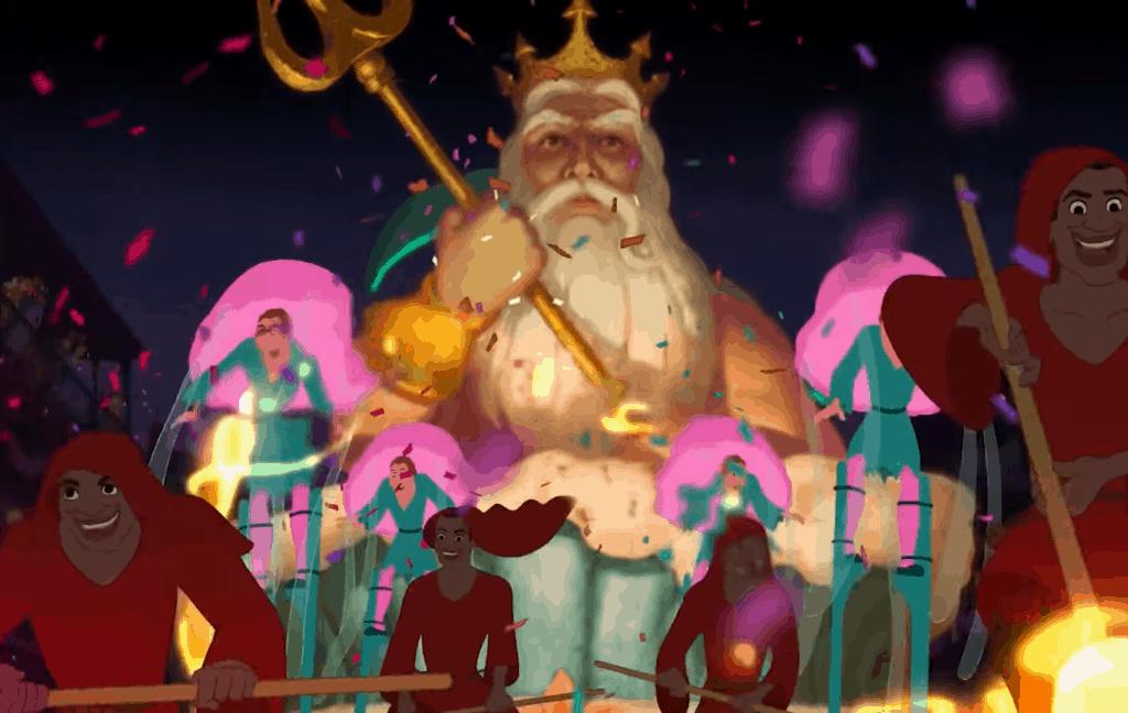 Koning Triton in Prinses en de Kikker