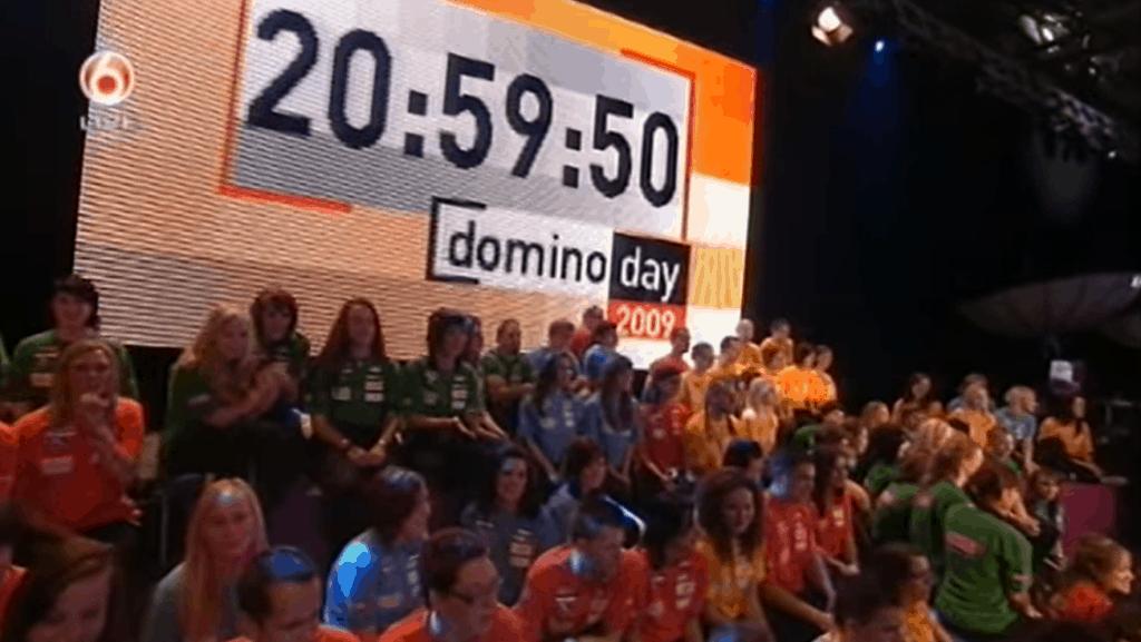 Domino Day aftellen